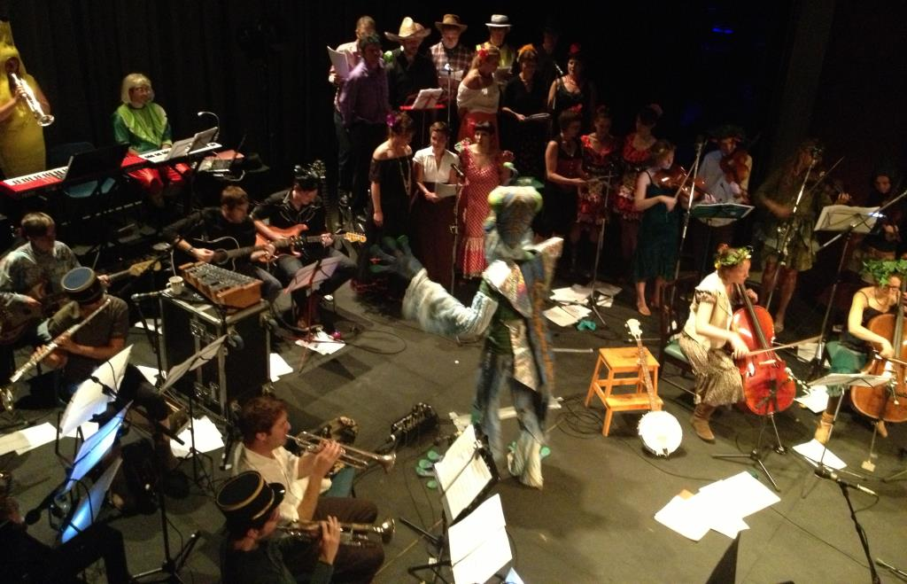 "The Fantasy Orchestra performing ""Manic""Depression by Jimi Hendrix on the Theatre Royal at the Bristol Old Vic. PIcture by Dave Taylor"
