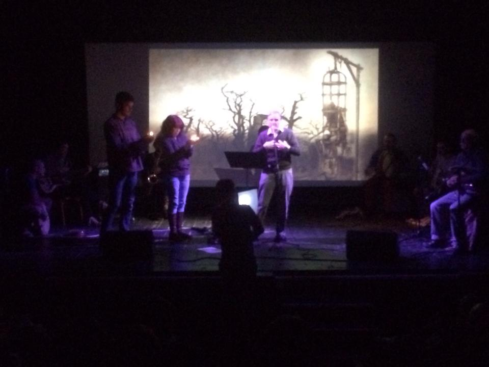 A reading of Tam, O'' Shanter with score by the Cube Orchestra. Picture by Richie Paradise.